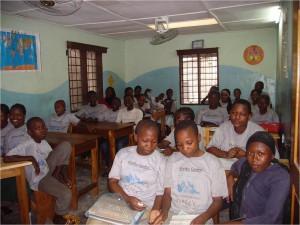 Klassenraum im Kizito